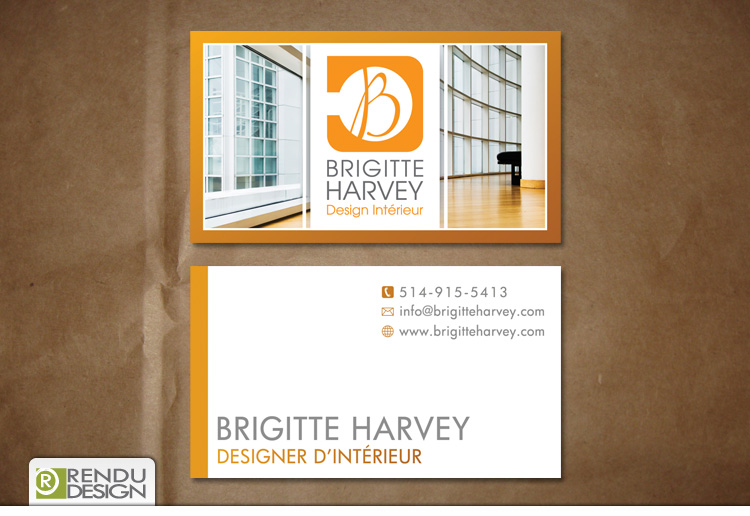 Rendu design impression de cartes d 39 affaires flyers for Design d interieur rive sud